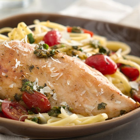 Chicken Breasts with Pesto and Parmesan