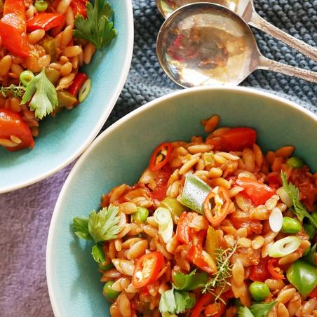 Risoni Vegetarian Jambalaya