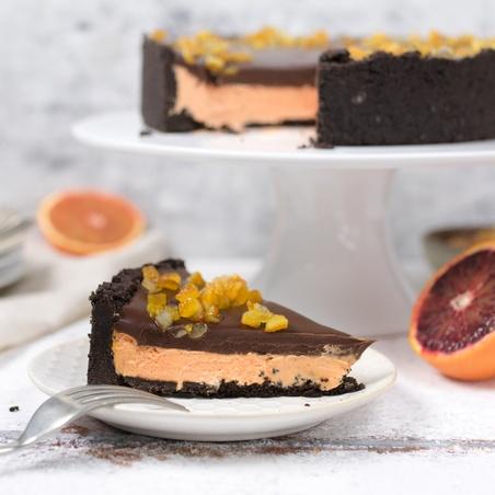 Orange Chocolate No-Bake Cheesecake