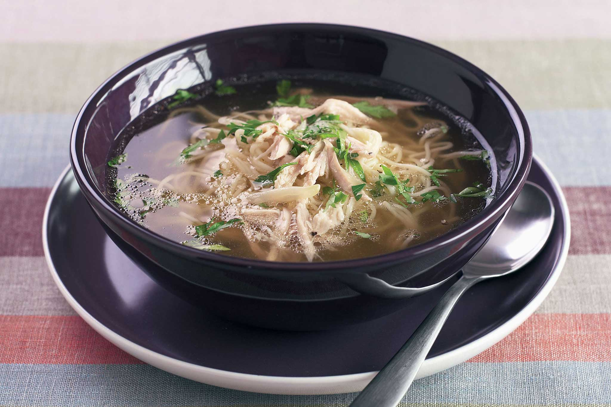 Slow Cooker Chicken and Noodle Broth