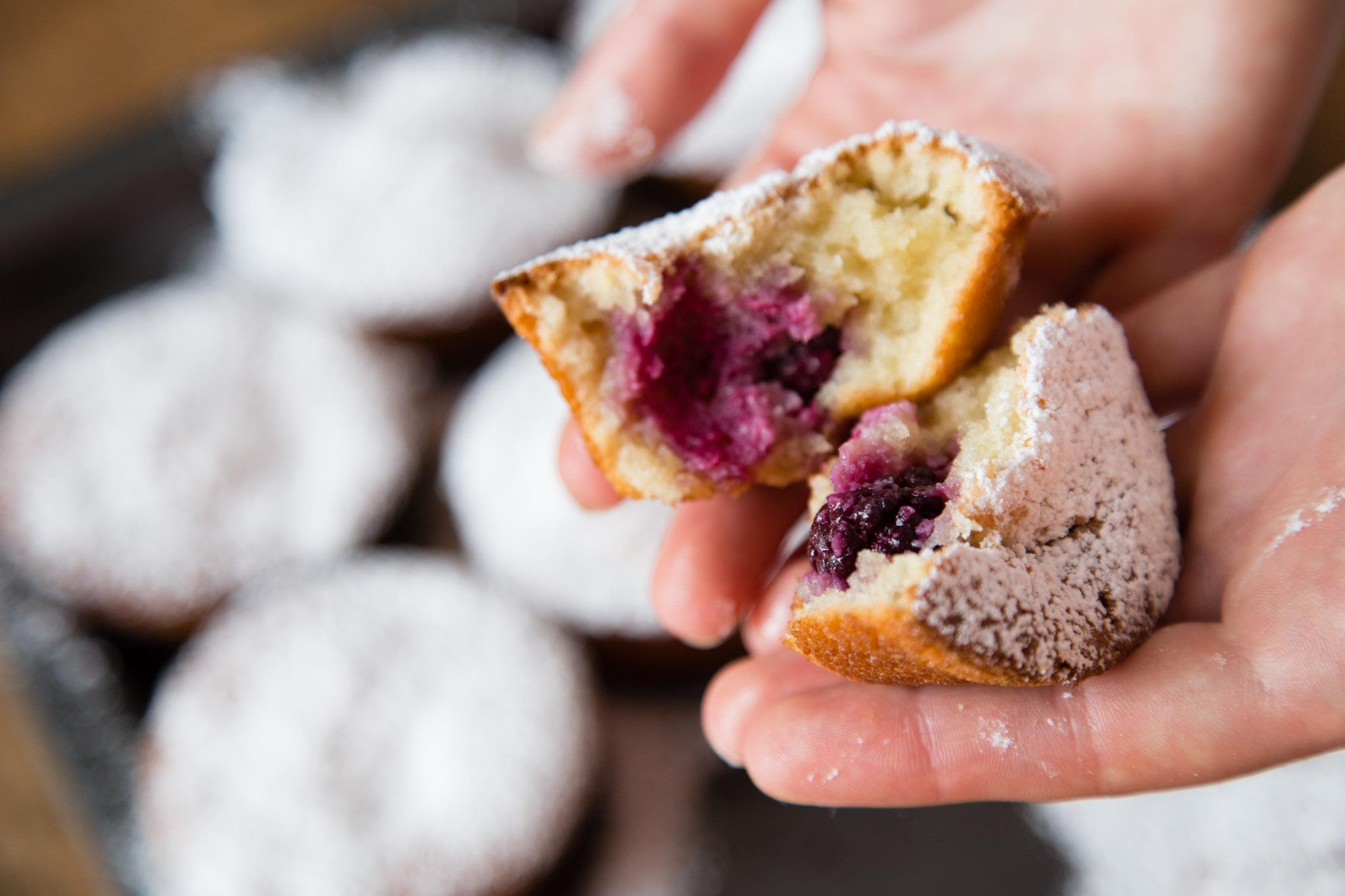 Blackberry Almond Tea Cakes