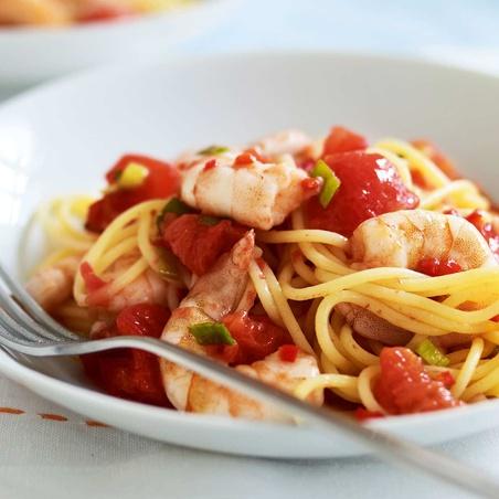 Lemon & Chili Linguine with Shrimp