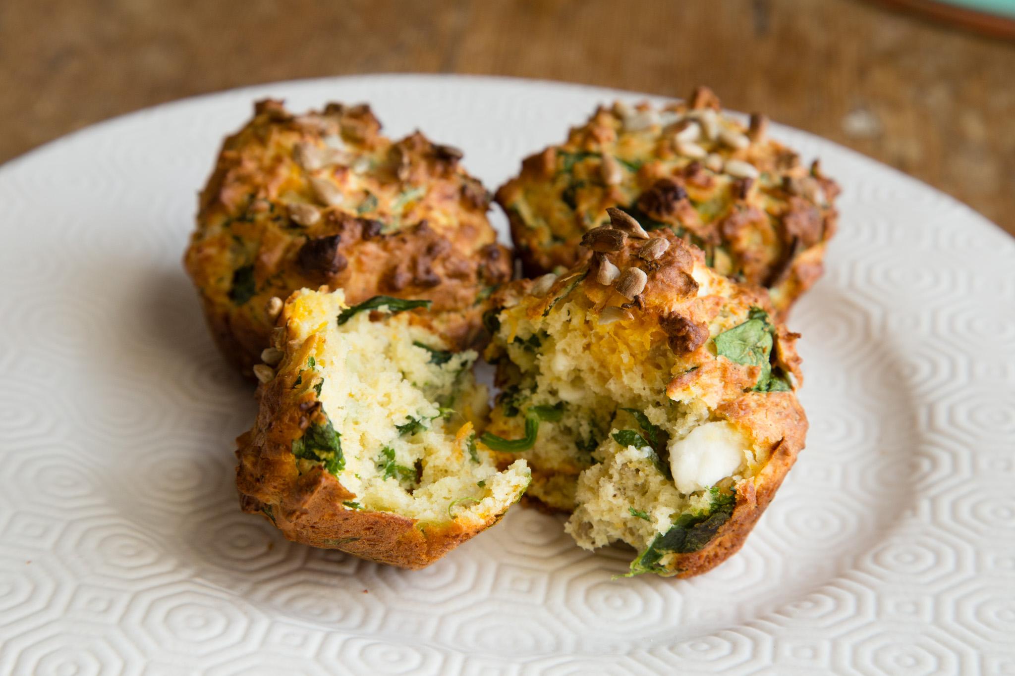 Pumpkin, Feta & Spinach Muffins