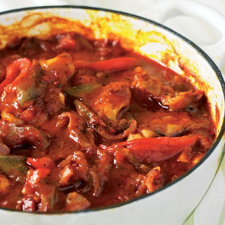 Basque-Style Sweet and Spicy Chicken Stew