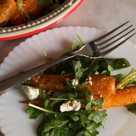 Honey-Roast Carrot, Feta, and Parsley Salad