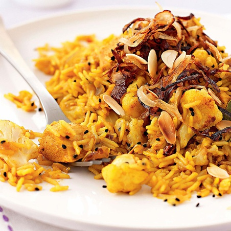 Cauliflower & Turkey Biryani