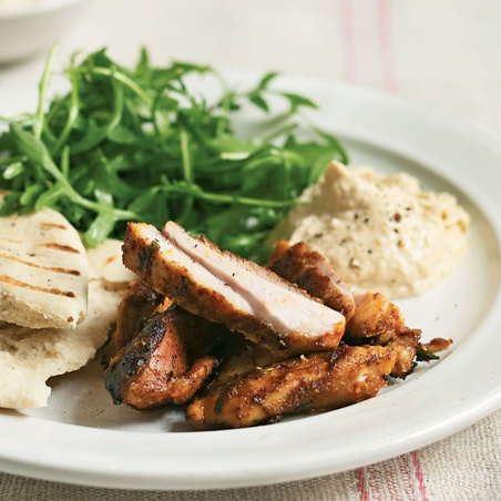 Citrus-Griddled Chicken with Hummus and Pita