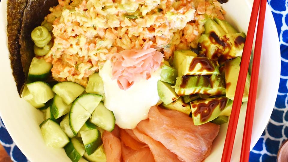 Thermomix California Roll Sushi Salad Drop