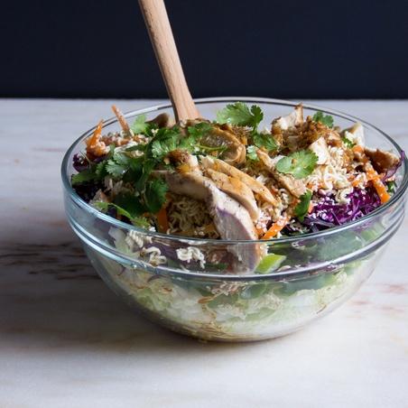 Chicken Salad with Ramen Noodles