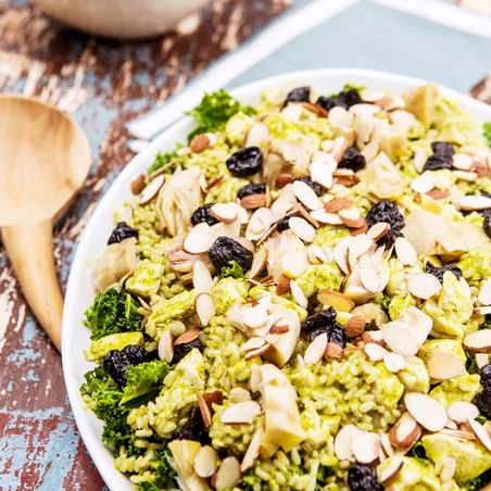 Kale Chicken and Brown Rice Salad