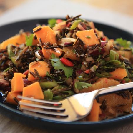 Thai Wild Rice Salad With Mango