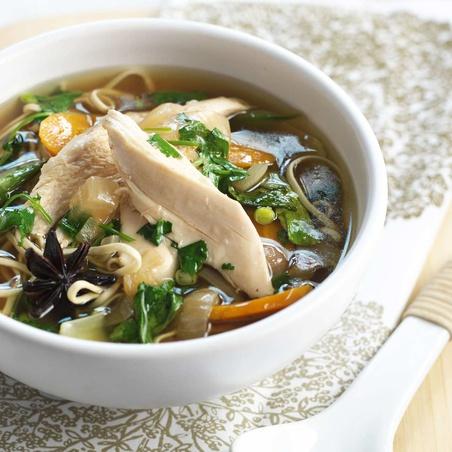 Slow Cooker Southeast Asian Chicken Noodle Soup